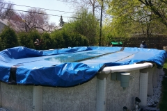 15x30 skarkline swimming pool , opening and closing