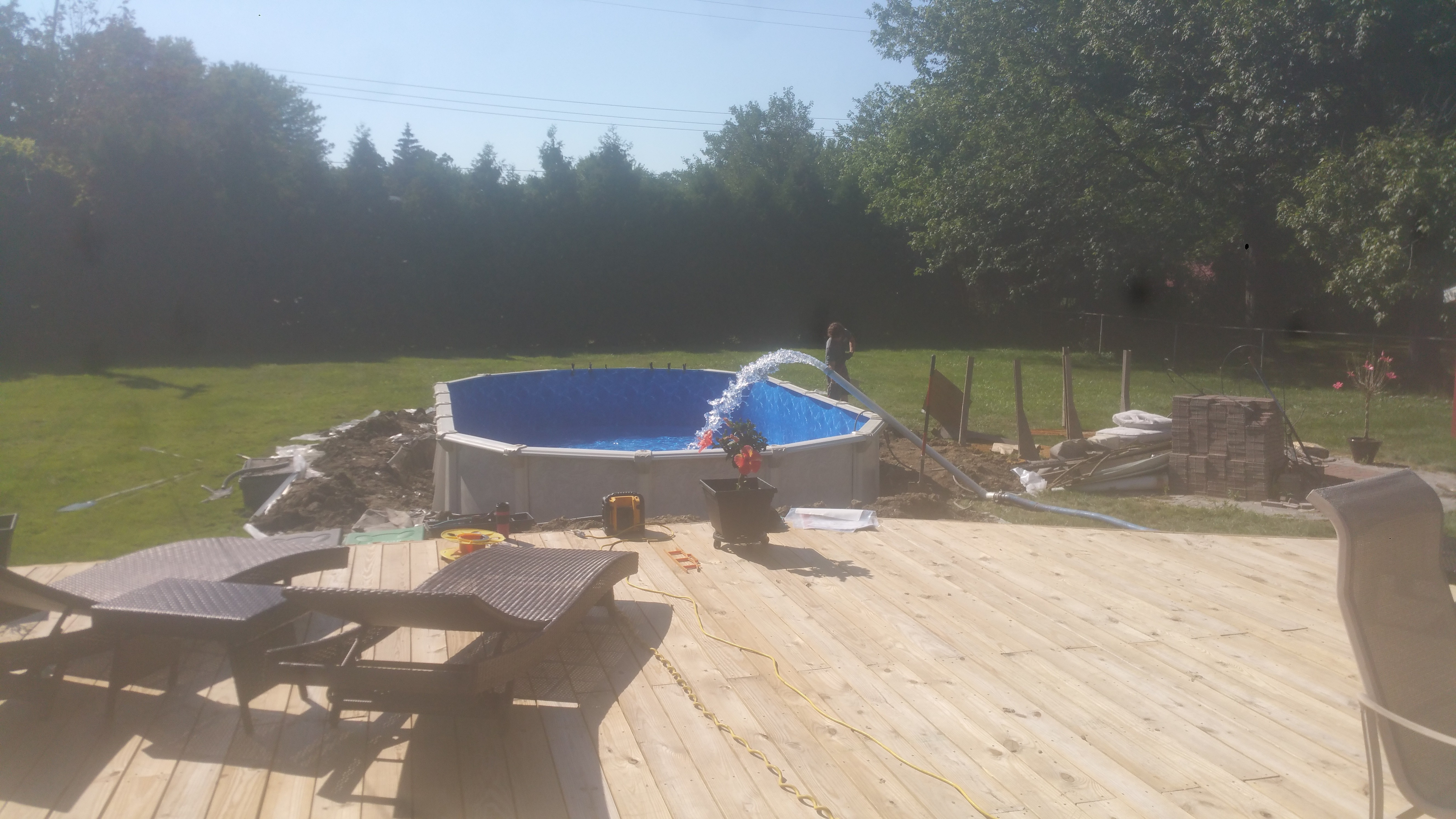 Semi Buried Aboveground Pools Crystal Clear Pools Mi